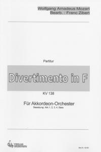 Divertimento in F - Partitur