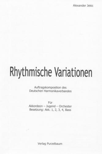 Rhythmische Variationen - Partitur