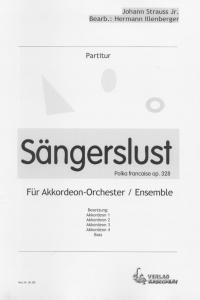 Sängerslust - Partitur