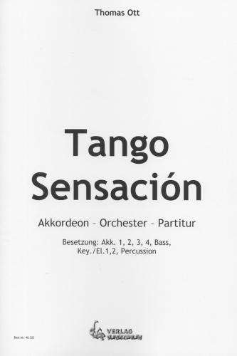 Tango Sensación - Partitur